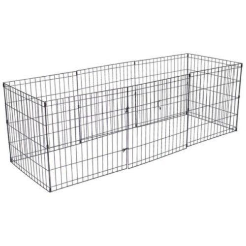 Mascota Perro Pluma Cachorro Conejo Plegable Corralito Jaula de ejecución de gabinete de interior//exterior