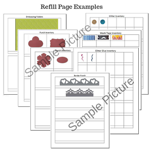 Download Stampin Up Paper Cardstock Tool Inventory Tracking List Refills