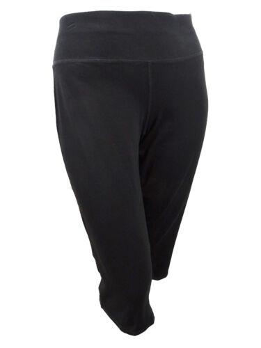 1X, Classic Black Ideology Women/'s Plus Size Cropped Pants