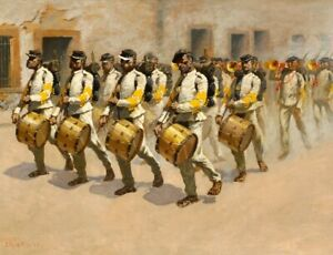 Drum-Corps-Frederic-Remington-Wall-Art-Print-Repro-Canvas-Giclee-Poster-Small