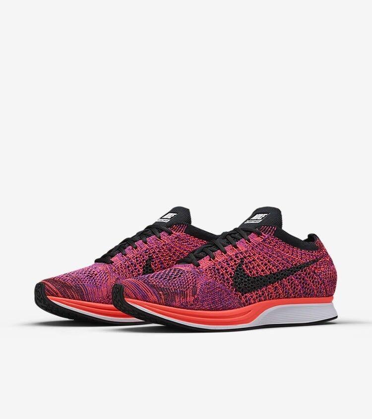 Nike Flyknit Racer Running shoes Training New Men's Size 11.5 Acai Berry orange