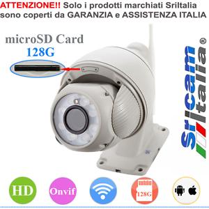 SP008 IP CAMERA WIRELESS ONVIF WIFI PTZ ZOOM 5X HD IRCUT IR LED 50 METRI H.264 .