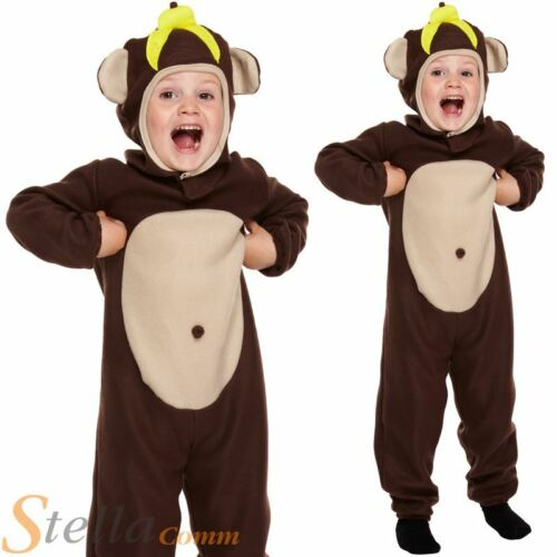 Toddler Monkey Costume Child Animal Boys Girls Fancy Dress Outfit Age 2-3  sc 1 st  eBay & Toddler Monkey Costume Child Animal Boys Girls Fancy Dress Outfit ...
