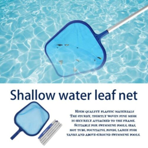 Swimming Pool Handle Cleaning Net Leaf Rake Mesh Frame Skimmer with 5 Pole US