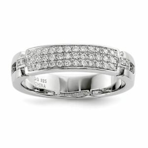 Sterling Silver 4 MM Brilliant Embers and CZ Band Ring MSRP $102 7ZfyY9zy-09163823-554714425