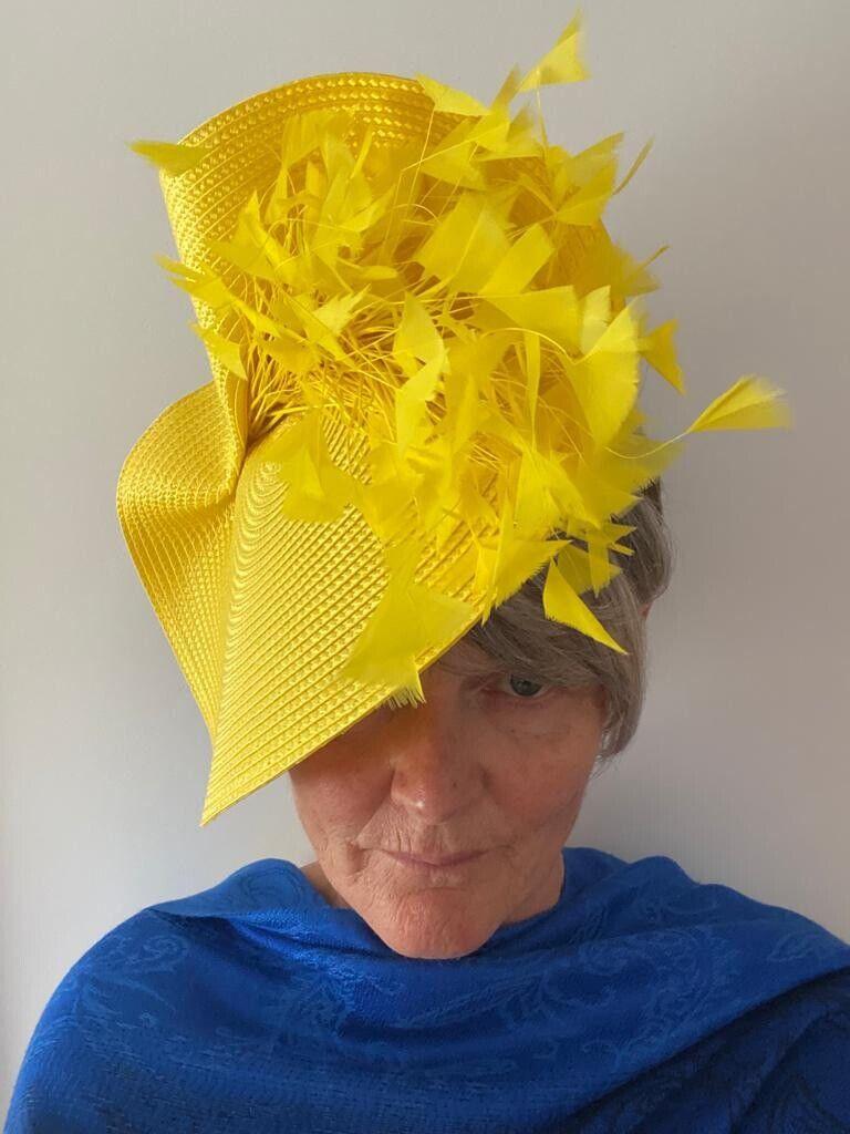 Yellow Wedding/ Occasion Hat