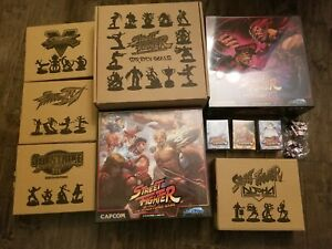 Street Fighter Miniatures Game Sealed New Kickstarter (no map pack) xtra Dice