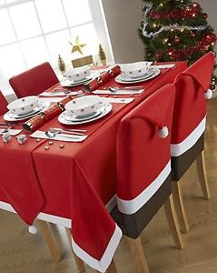Noel-Pere-Noel-Rouge-NAPPE-DE-Table-OU-TAPIS-Diner-Table-Pere-Noel