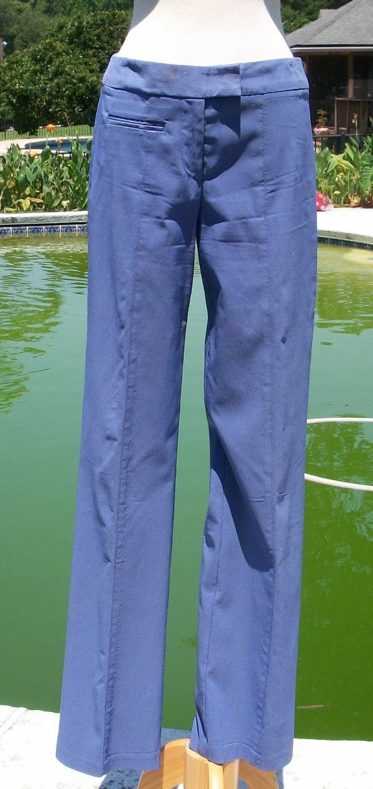 Cache  128 Flat Front Zipper Stretch Self Belt Pant NEW Sz 2 4 6 XS S PERIWINKLE