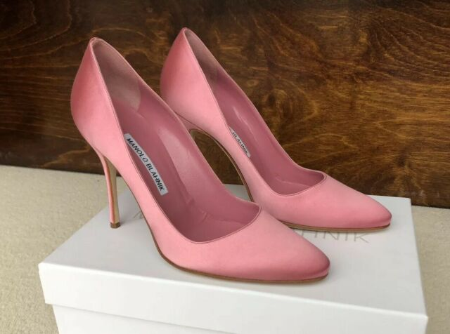 shoes Size 38 UK5 Pink satin heels