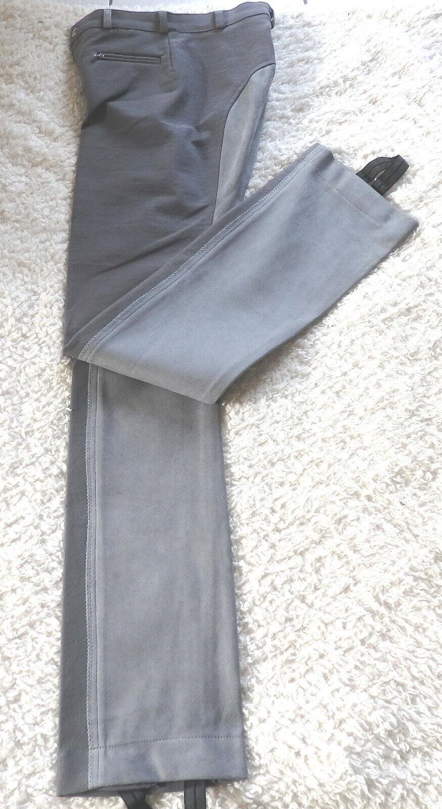 ldren's Jodhpur Riding Pants Grey, FULL TRIM,  SIZE 176, (353)  sale with high discount