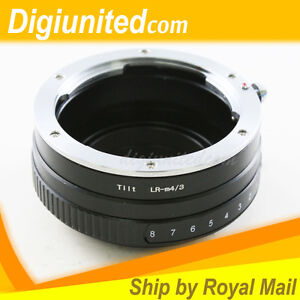Leica-R-mount-L-R-lens-to-Micro-4-3-mount-Tilt-adapter-E-P3-PL6-OM-D-G3-GH5-M43