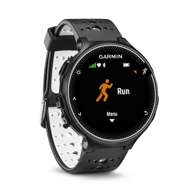 Garmin Forerunner 230 GPS Running Training Tracker Smart Watch, Black and White