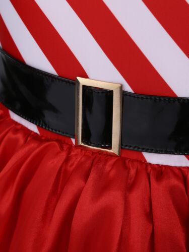 Women Miss Claus Santa Christmas Cosplay Costume Mini Dress Tutu Skirt Halloween