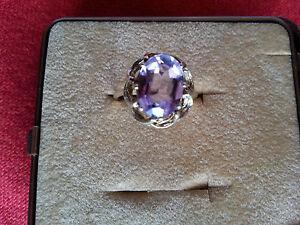 Ring-Amethyst-in-Silber-835-000-vergoldet