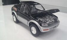 TOYOTA RAV4 Cabriolet NERO KINSMART auto giocattolo modello 1/32 Scala
