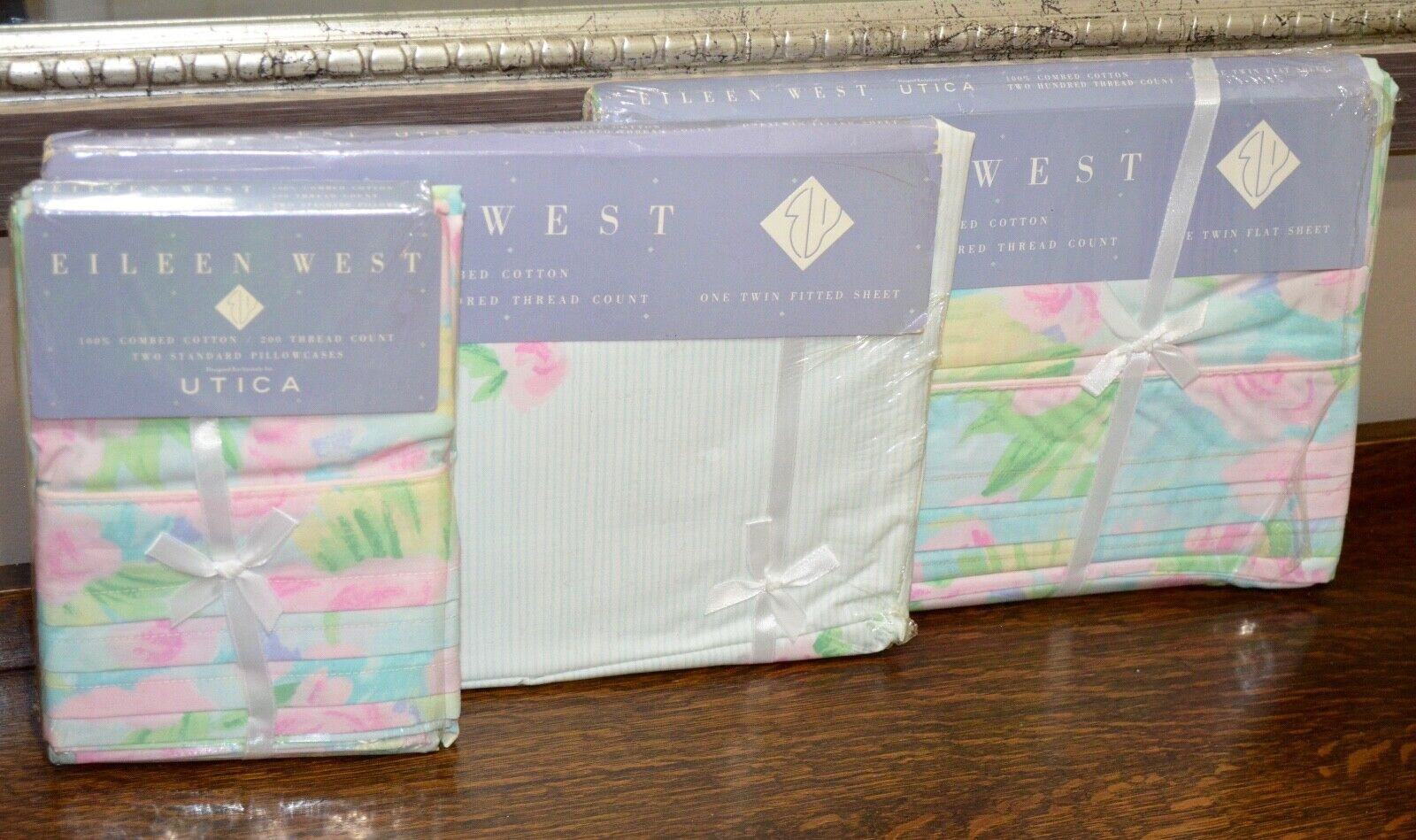 Lilly Pulitzer Style Twin Sheet Set  Utica Elieen West NEW Impressionism Multi