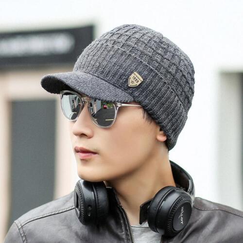 Unisex Men/'s Warm Baggy Weave Crochet Winter Wool Knitted Ski Beanie Caps Hat A#