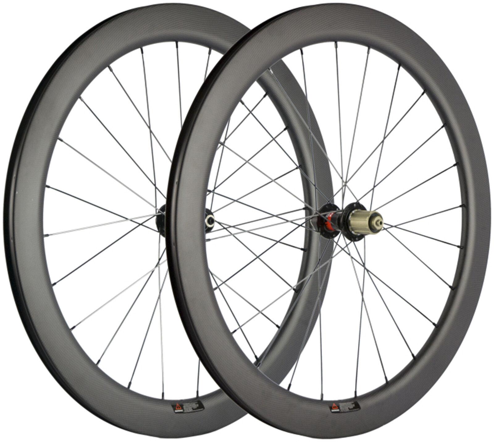 30 40 45 55mm Disc  Brake Carbon Wheels Thru Axle 12mm 15mm QR Bicycle Wheelset  preferential