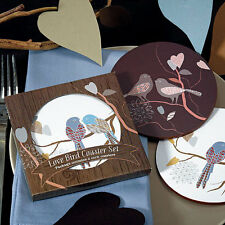 Love Bird Lovebirds Cork Coasters Set Wedding Bridal Shower Favor Gift Q16245