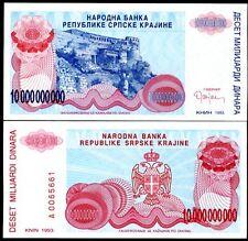 CROATIA 10,000,000,000 10 Billion DINARA 1993 P R28 UNC