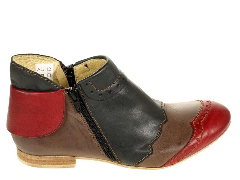Rovers Schuhe Stiefelette 38014 Gr.39 blau/braun/rot Schuhe Neu OVP TOP Fußbett