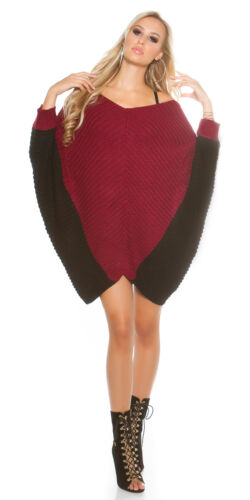 Ladies Stylish Relaxed fit Jumper mini Dress Sweater One size fits UK 10//12//14