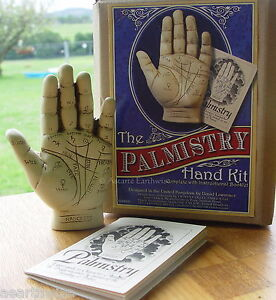 PALMISTRY-HAND-KIT-WITH-INSTRUCTION-BOOKLET-Wicca-Pagan-Witch-Goth-PALM-READING