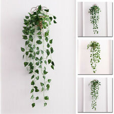 Artificial Succulent Ivy Leaf Fake Plants String Of Pearl Hanging Wall Decor Qui