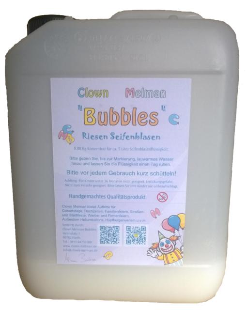 Riesenseifenblasen Konzentrat von Clown Melman für 5 Liter, Handgemacht!