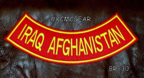 "IRAQ AFGHANISTAN Back Patch Bottom Rocker for Biker Veteran Vest Jacket 10/"""