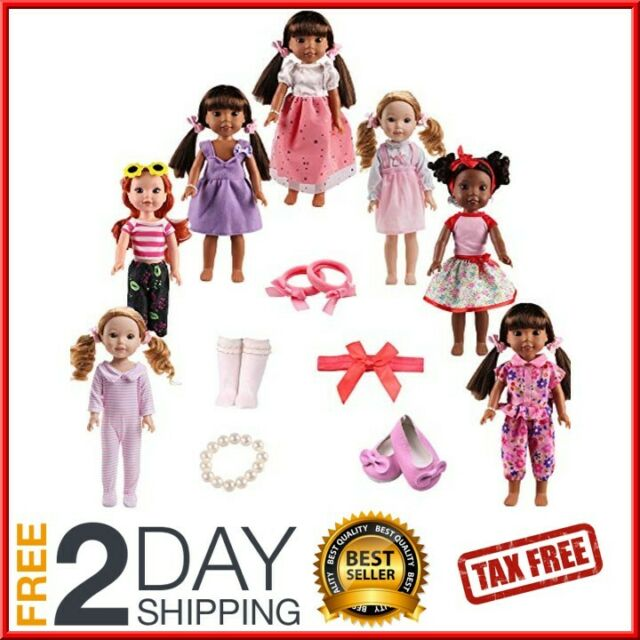 Tsqsz 7sets Doll Clothes Shoes And Accessories For Fit American Dolls 14inch For Sale Online Ebay