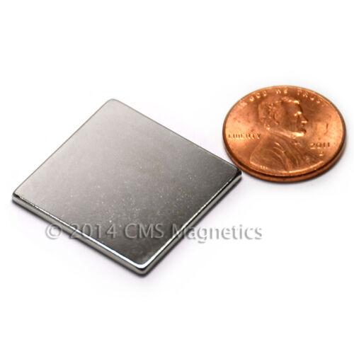 "Neodymium N45 1/""x1/""x1//16/"" NdFeB Rare Earth Magnets 4 PC"