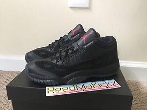 a11b40c45869 Nike Air Jordan 11 Retro Low IE Referee Black Cat Bred Grade school ...