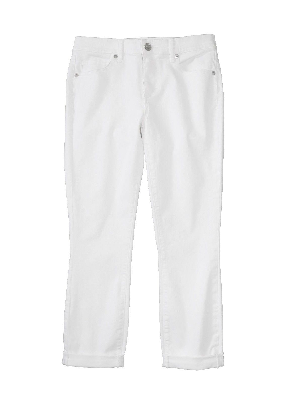 LOFT Women's - NWT - Modern Skinny Fit Crisp White Denim Roll Cuff Crop Jeans