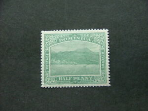 Dominica-1908-d-blue-green-SG47-MM