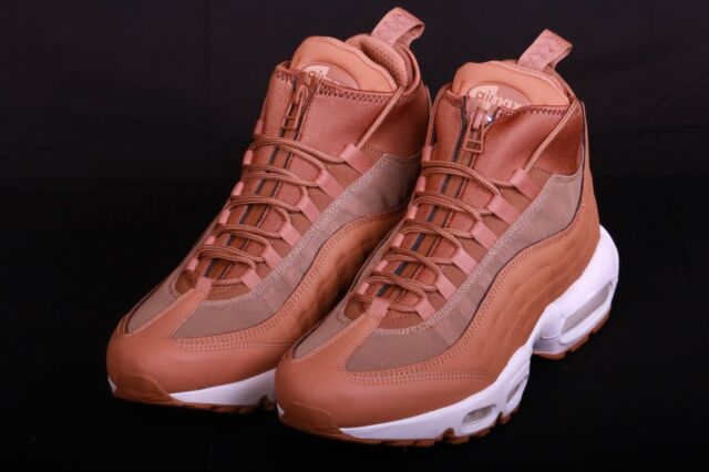 huge inventory available elegant shoes Nike Men's Air Max '95 Sneakerboot Flax Ale Brown Sail 806809 201 Size 9.5