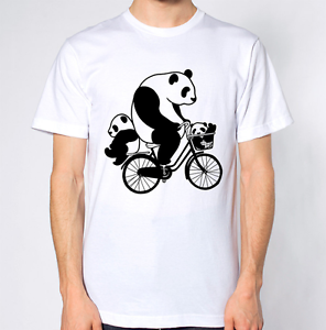 Panda-Riding-Bicycle-T-Shirt-Bike-Animal-Lover-Top-Funny-Cool-Hipster-Dope-Baby