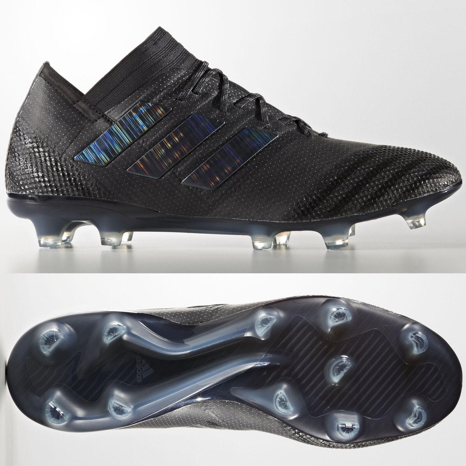 Adidas nemeziz 17.1 FG para Hombre botas De Fútbol Triple Negro RRP   Tallas 6-12