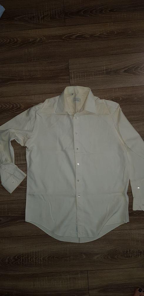 ERMENEGILDO ZEGNA Mens Long Sleeve Button Front  Beige Shirt Size 41 16