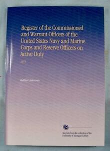 Register-Commissioned-amp-Warrent-Officers-United-States-Navy-1855-Book-Reprint-O