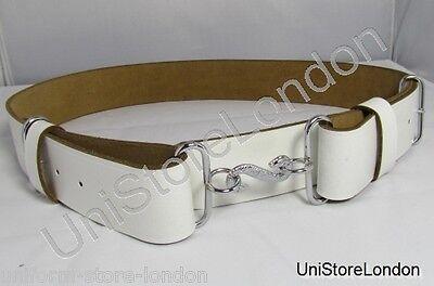 Belt Snake Buckle Belt Chrome Snake Buckle White R1154