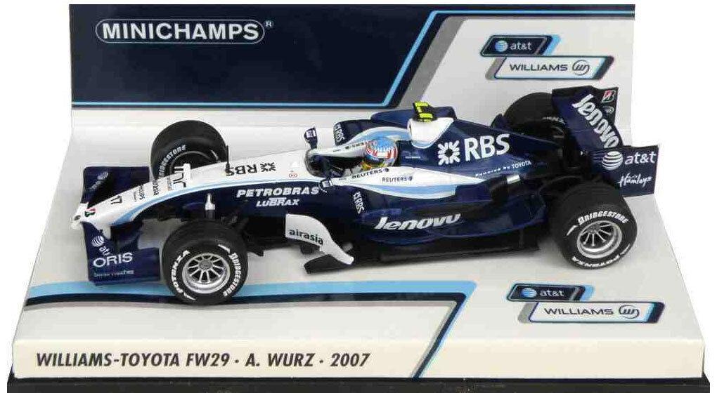 Minichamps Williams fw29 2007-ALEXANDER WURZ  SCALA
