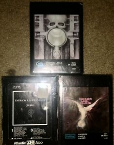 3-NEW-SEALED-EMERSON-LAKE-amp-PALMER-8-TRACK-TAPES-SELF-TITLED-BRAIN-SALAD-SURGERY