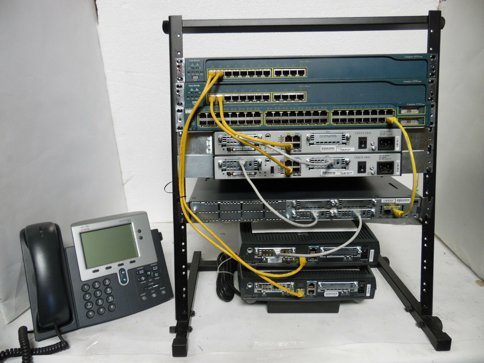 Cisco CCNA CCNP Lab Kit 1x1841IOS 15.1,2x 2600XM 2x 2960-24,3560 #1 Best Seller