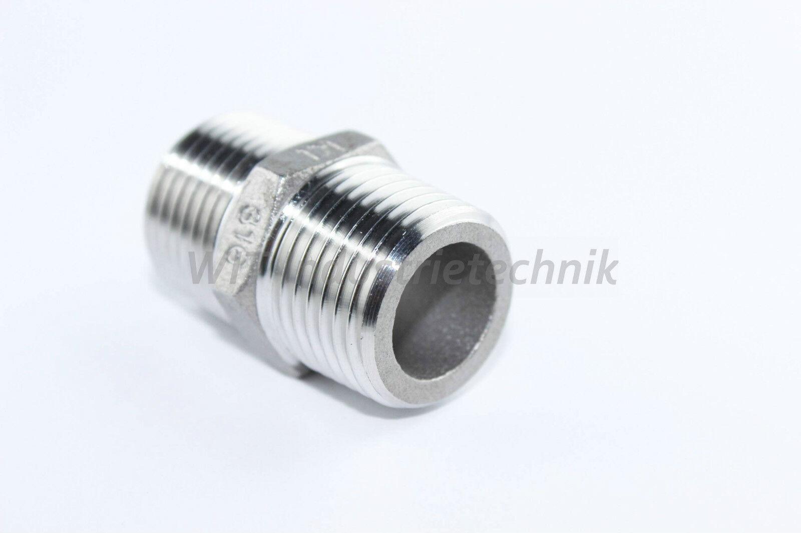 acier inox sechskant-doppelnippel sechskant-doppelnippel sechskant-doppelnippel 1.4436/1.4401 SIMILAIRE en 10241 (DIN 2990) 382307