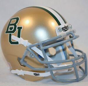 BAYLOR-BEARS-GOLD-Schutt-XP-Mini-Helmet
