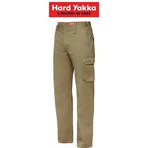 Mens-Hard-Yakka-Cargo-Pants-Gen-Y-Cotton-Drill-Work-Tough-Heavy-Duty-Y02500