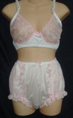 Very Sissy Rumba PINK Training BRA w lots of Lace Bra for men Cross Dresses