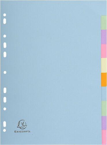 Ordner Exacompta Forever A4 10 Teil Feile Trenner Pastell Farben Recycelt Akten